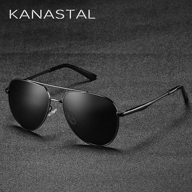 100% Wahr Kanastal Männer Sonnenbrille Polarisierte Spiegel Shades Sonnenbrille Aviator Brillen Große Objektiv Hohe Qualität Pilot Gläser Klassische
