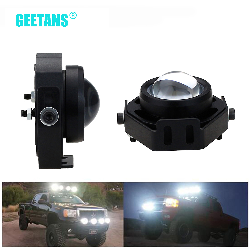 2pcs/Lot Super Bright Led Car Fog Lamp Waterproof 1000LM 10W DRL Eagle Eye Light Daytime Running Reverse Backup Park CJ 9w red high power led eagle eye under car body lamp drl fog light 9w motorcycle 6pcs lot free shipping