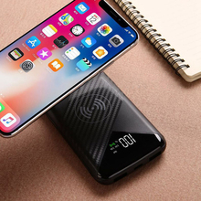 Power Bank 20000mAh QI Wireless Charger External Battery Dual USB Power Bank Portable Smartphone Charger for iPhone 8 X Xiaomi