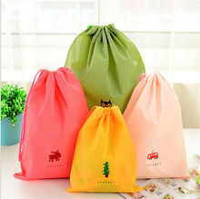 1pc Cartoon Drawstring Pouch Travel Bags Clothes Storage Finishing Luggage Bags Waterproof Clothing Bag Shoe Bag o