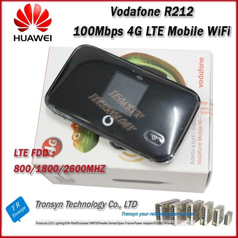 Atacado New Original Unlock LTE FDD 100 100mbps Vodafone R212 4G LTE Wi-fi Hotspot Suporte LTE FDD 800/1800/2600 MHz