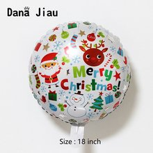 18inch Merry christmas foil balloon Santa Claus happy new year kids gift party decoration snowman tree Pere David's Deer ball(China)