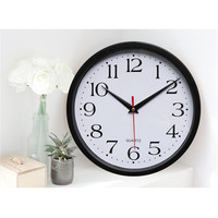 Brief Classic Silent Sweep Wall Digital Clock Black And White Color Modern Graceful Bell Desk Creative