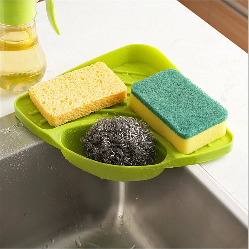 kitchen sink corner storage rack plastic sink dish drainer storage holder sucher drying rack kitchen washing