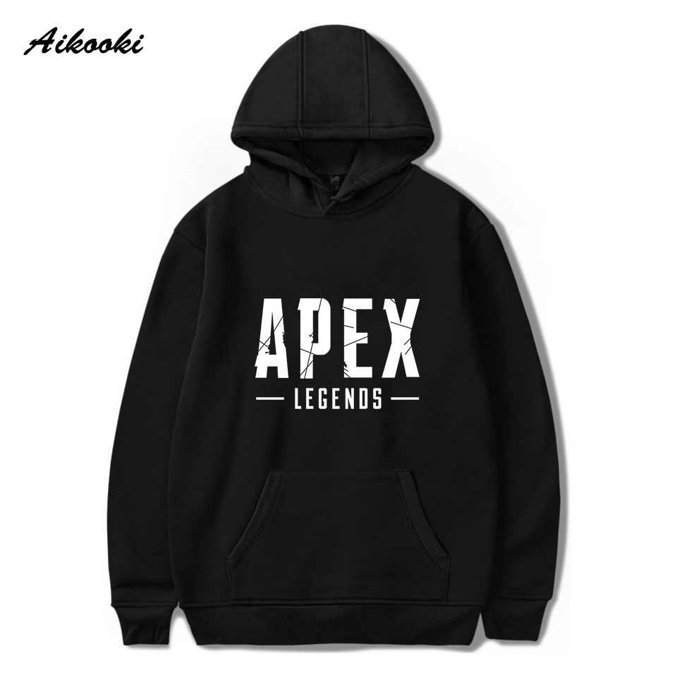 Aikooki Лидер продаж Apex легенды хлопковая толстовка худи для мужчин Осень-весна пуловер худи для мальчиков Harajuku больших размеров Куртка Топы 4XL