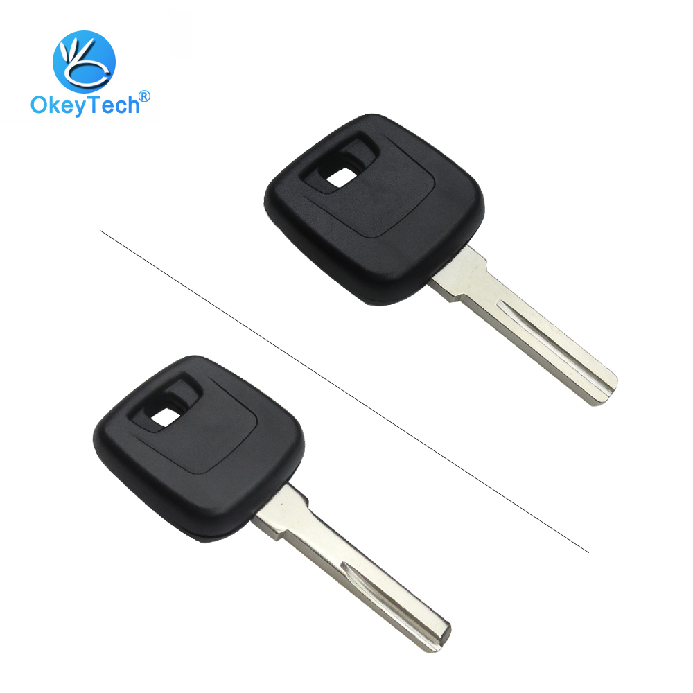 OkeyTech Transponder Car Key Shell Fob Auto Cover Case Uncut HU56R/NE66 Blade for VOLVO S40 V40 850 960 C70 S70 V7 D30 XC70 XC60 whatskey uncut blade transponder ignition car key shell case for volvo s40 s60 s70 s80 v40 v70 xc60 xc70 xc90 850 960 c70 v7 d30