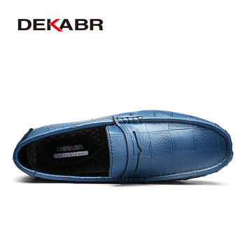 DEKABR Italian Leather Man Loafers Designer Slip On Driving Shoes Men High Quality Luxury Brand Soft Loafers Large Size 38~47
