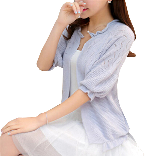 9b0b88ea6ef166 Thin cardigan female outerwear ruffle hem short design cutout sweater  cardigan cape sweater blusas de inverno feminina ZY651