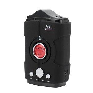 Image 3 - Multi Functie Full Band Scanning Auto Radar Detector V8 Engels Russisch 360 Graden Voice Waarschuwing 16 Band LED Display