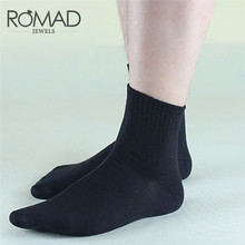 Romad 5 Pairs Set Winter Rabbit Wool Thickening Warm Men Socks Pure Solid Color Thermal Sock