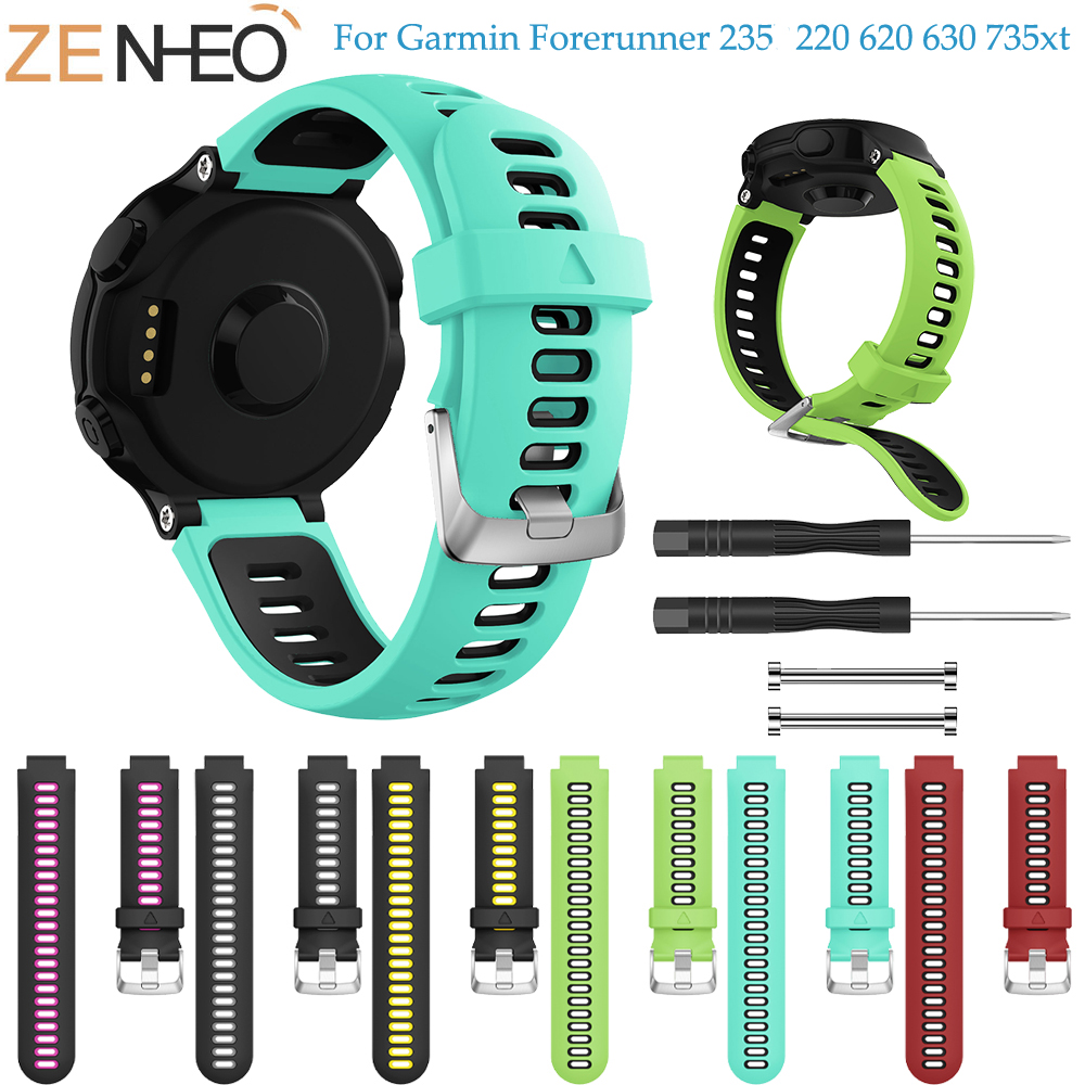 цена на Wristband For Garmin Forerunner 735XT Watch Soft Silicone Strap Replacement Watch Band For Garmin Forerunner 220 230 235 735XT
