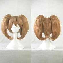 Sword Art Online Ayano Keiko Costume Cosplay Wigs for Women Short Straight Synthetic Hair Anime Wig Brown Claw Clip Ponytail