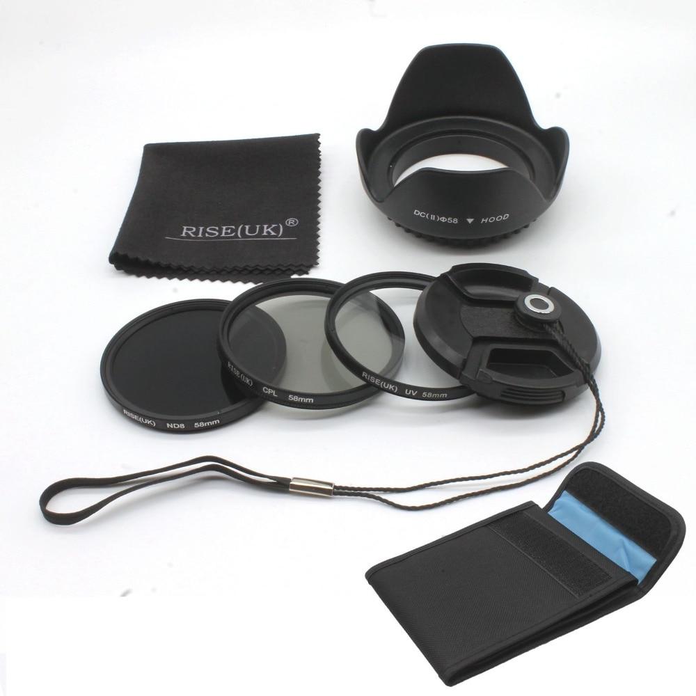 49mm 52mm 55mm 58mm 62mm 67mm 72mm 77mm RISE(UK) Filter Kit UV CPL Polarizer+ ND 8 for Nikon Canon DSLR Cameras massa cross screen star filter for slr cameras 72mm