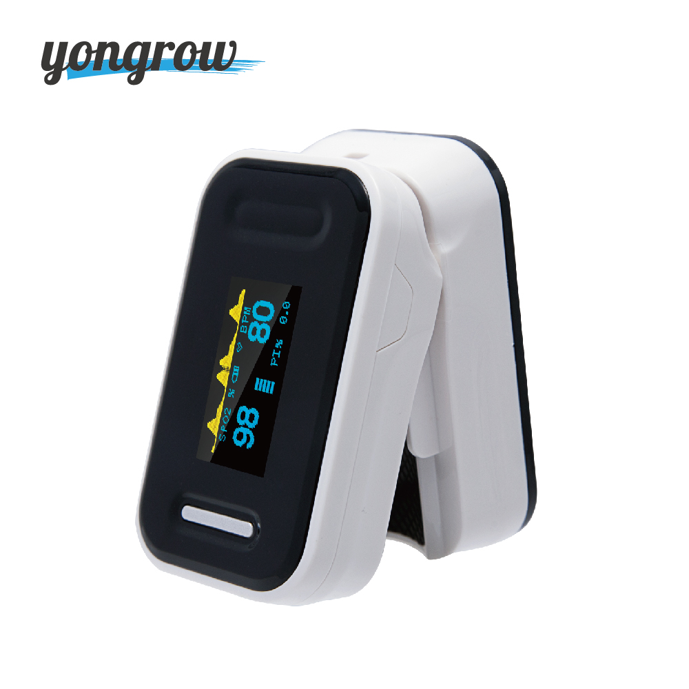 Yongrow Medical Digital Fingertip Pulse Oximeter Blood Oxygen Saturation PR Monitor SpO2 high Accurate Family Health Care YK-81