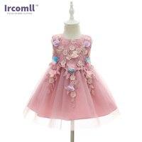 Ircomll Brand Newest Little Princess Baby Girl Dress Lanvender A Line Ball Gown First Birthday Gift