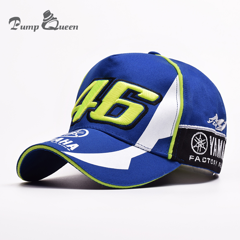 2018 New Design F1 Racing YMH Hat Motocycle Racing Cap MOTO GP VR 46 Cap Rossi Embroidery 100% Cotton Trucker Baseball Cap Hat