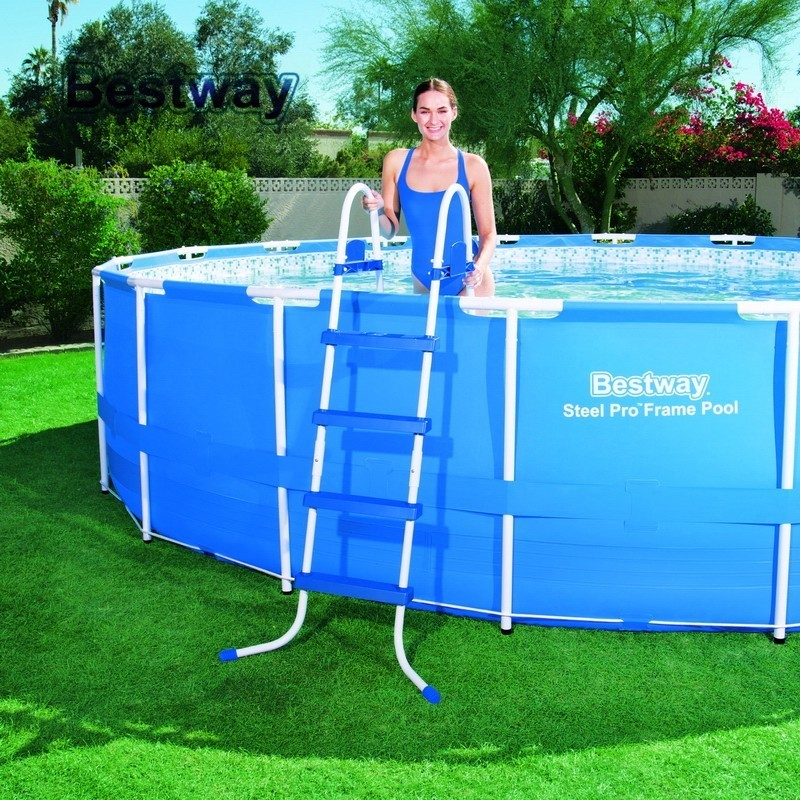 58336 Bestway Safety Pool Ladder 48 Specially Designed Ladder For Above Ground Swimming