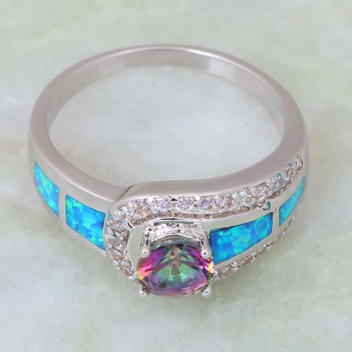 Mode smycken Pink Rainbow Mystic Cubic Zirconia 925 Sterling Silver - Märkessmycken - Foto 3