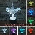 Nuevo 2017 decoración de Aladino y la lámpara mágica bombilla Led Luz de la noche de Humor Tabla Dormitorio Sala Cafe Bar Iluminación Niño regalo