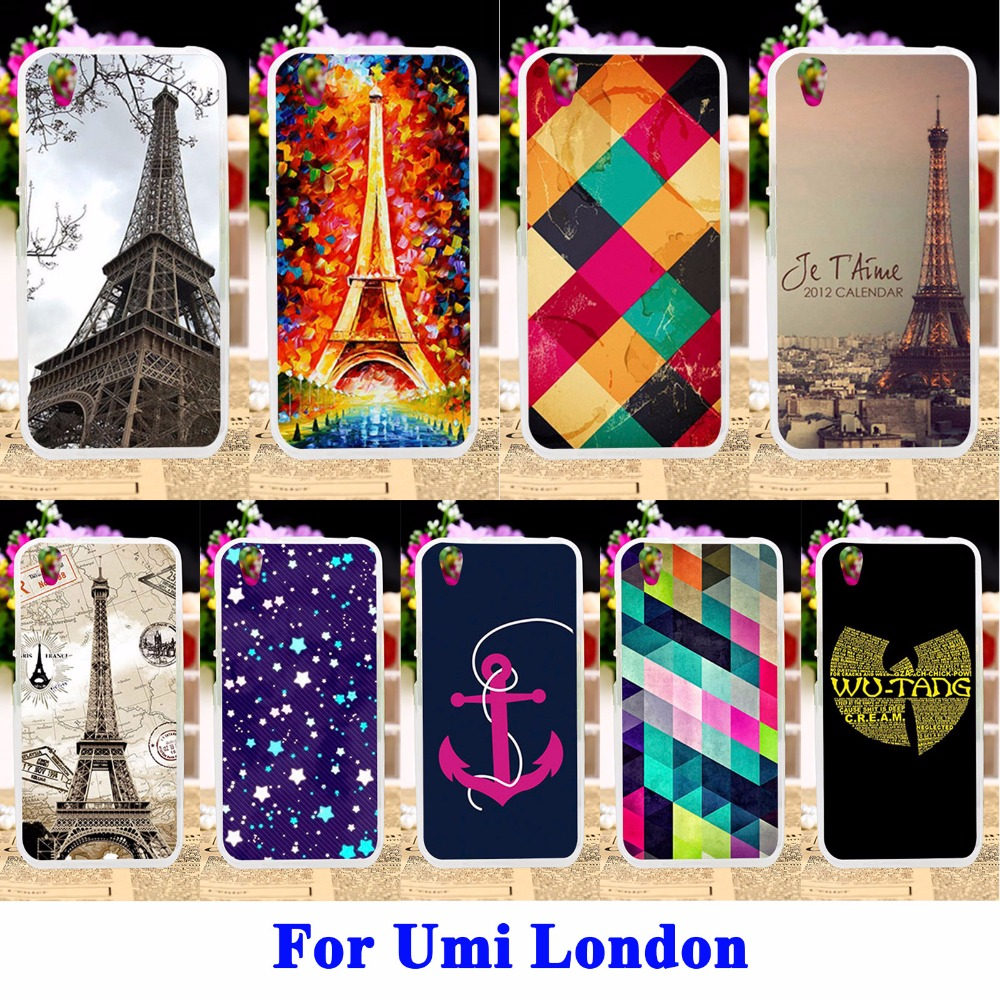 Eiffel Tower Mobile Phone Cases For Umi London Smartphone MT6580 Case Covers Silicon Housing Bag Skin Shell For Umi London Capa
