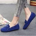 100% cuero Genuino Mujeres de los planos de Nueva Marca Hecha A Mano de Las Mujeres zapatos de cuero Ocasionales de Cuero Mujeres de La Manera de Conducción Mocasín Zapatos