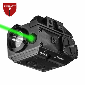 2in1 Combo Red / Green Laser + Flashlight Tactical Weapon Light Aim Pointer Torch For Pistol Gun Rifle with Picatinny Rail