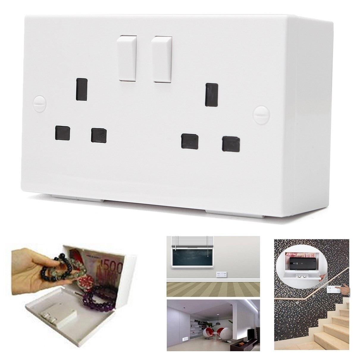 Double Plug Socket Imitation Storage Box Bin Wall Hanging