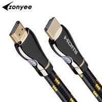 Szybki kabel 3D 4K 60FPS HDMI 2.0 pleciony sznur Ethernet łuk 3m 10 stóp 10m 15m 20m projektor komputer wideo telewizyjne kabel HDMI HD