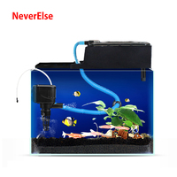 Aquarium Power Filter Pump+External Filter Box for Fish Tank Filter Media Sponge Bio Balls Add Air Circulate Water 12/18/25/35W