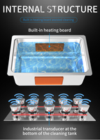 900 вт 30л для ванной промышленных ультразвуковой очиститель мощность регулировки Дега нагреватель 40 кгц аппаратные средства печатной платы лаборатория зубные ин
