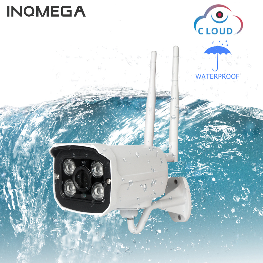 INQMEGA  Wifi Outdoor IP Camera 1080P Waterproof Wireless Security Camera Two Way Audio Night Vision P2P Bullet CCTV CameraINQMEGA  Wifi Outdoor IP Camera 1080P Waterproof Wireless Security Camera Two Way Audio Night Vision P2P Bullet CCTV Camera