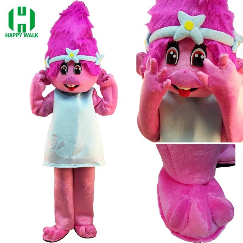 Nové maskotové kostýmy Trollové Mascot Parade Kvalitní klauni Narozeniny Troll