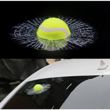 Car Styling 3D Car Stickers Baseball Funny Ball Hits Car Body Window Sticker Self Adhesive Baseball Tennis Decal Car Accessories car styling 3d car stickers funny auto ball hits car body window sticker self adhesive baseball tennis decal accessories