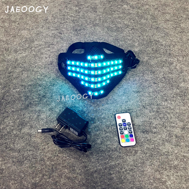 2019 Free shipping LED RGB Mutilcolor Light Mask Hero Face Guard DJ Mask Party Halloween Birthday LED Colorful Masks for show in Glow Party Supplies from Home Garden