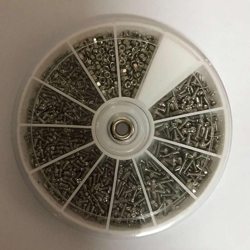 1000pcs Complete M1/1.2/1.4/1.6 Small Steel Screws Nuts Electronic Assortment Ki