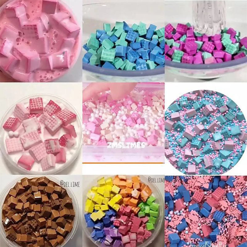 1bag 5g Slime Diy Accessories Toy Sponge Strip Slime Accessories Supplies Filler Plasticine Decoration Gift Toy For Kids Adult Modeling Clay