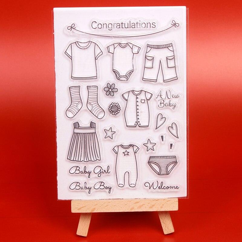 Babykleding Transparant Clear Siliconen Stempel / Seal voor DIY - Kunsten, ambachten en naaien