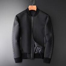 Minglu Baseball Collar męska kurtka jesienno zimowa Trend zmarszczek dodatkowa gruba warstwa męskie kurtki i płaszcze moda dopasowane kurtki męskie