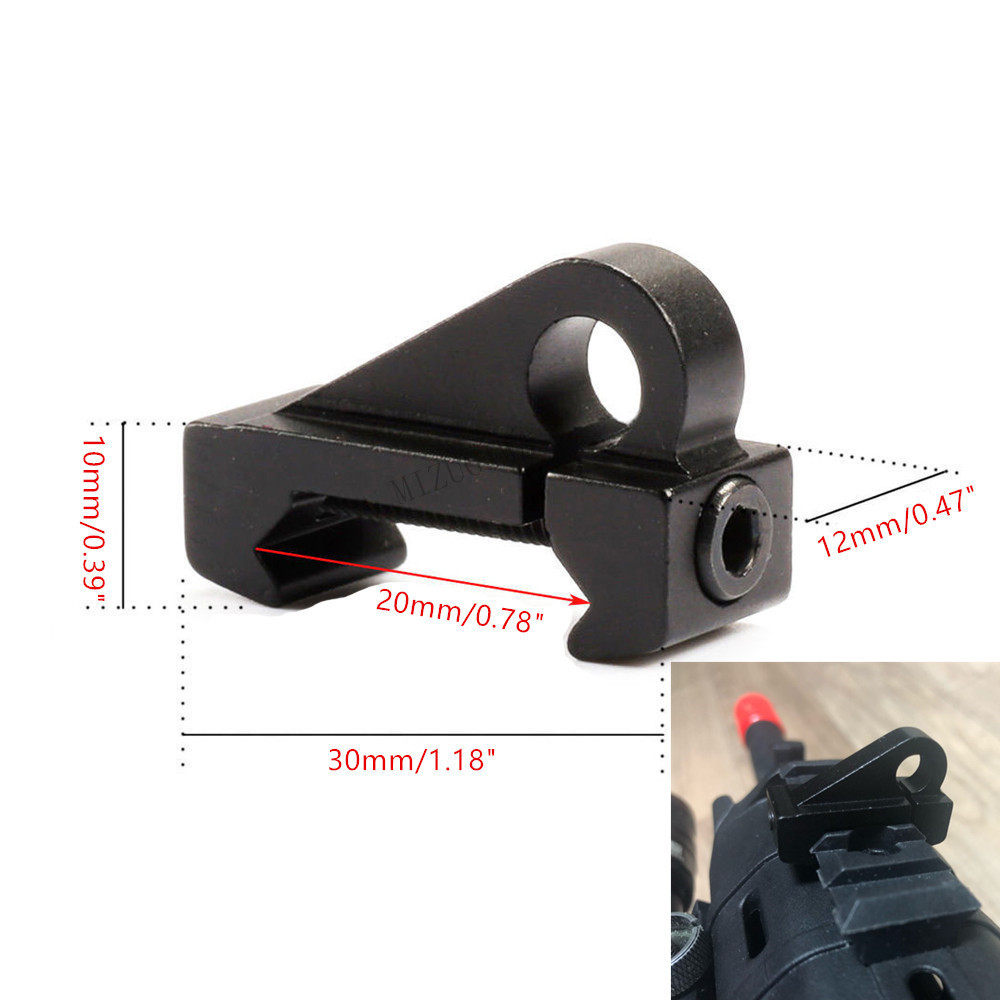 Tactical Picatinny Sling Hook Mount Adapter Swivel Attachment Scope Mount 20mm Picatinny Rail Weaver Connector AR Airsoft