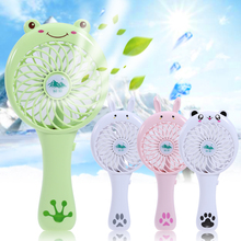 New Durable Adjustable USB Gadget Mini Small Fan Rechargeable Large Wind Power Portable Creative Cartoon High Quality