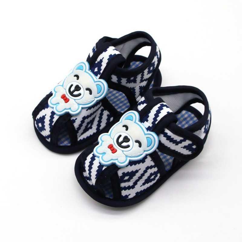 Los muchachos de las muchachas del bebé, sandalias para niña verano lindo Oso de algodón suave Sloe bebé niños niño niños zapatos de niños sandalias nueva