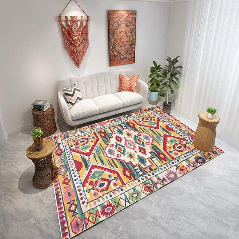Moroccan Living Room Carpet Vintage Home Bedroom Rug Large Sofa Coffee Table Floor Mat Bohemia Study Room Floor Rug Kids Carpets