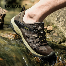 DR.EAGLE Outdoor Men Sport Shoes Super Light Breathable Mesh Sports fishing shoes climbing Trekking Boots Shoes Men's Sneakers