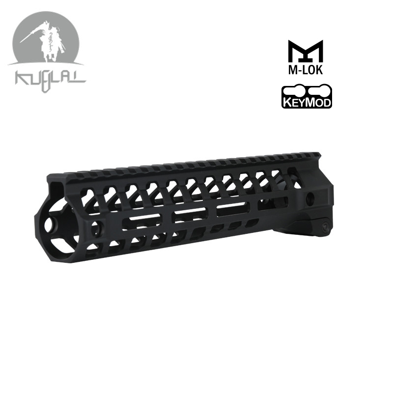 Tactical AR-15 M-LOK Keymod 9 12 inch Slim Free Float Handguard Picatinny Rail Mount Bracket 556 for Airsoft