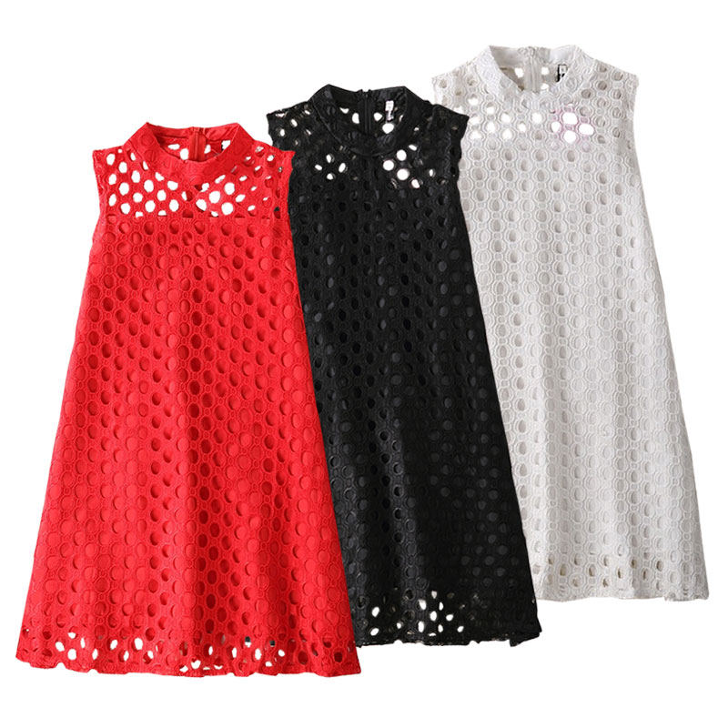 2017 New Girls Summer Evening Dress Children Hollow Out Lace Princess Dress Baby Girl O-Neck Party Dresses Kids Fashion Clothes girls tshirt brand hollow sleeveless o neck baby girl shorts solid elastic waist 2 pieces kids clothes girls 2792w