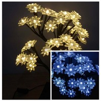 60cm 50LEDs LED Christmas Tree Lights Holiday Lighting Cherry Blossom Tree Chanel Chandelier Garland For New