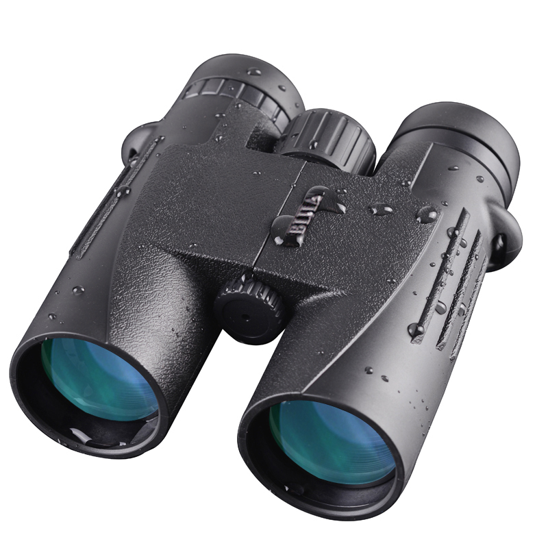BIJIA Free shipping10x42 Binoculars Waterproof Nitrogen Filled Telescope for travelling Hunting Birding bijia 20x nitrogen waterproof binoculars 20x50 portable alloy body telescope with top prism for traveling hunting camping