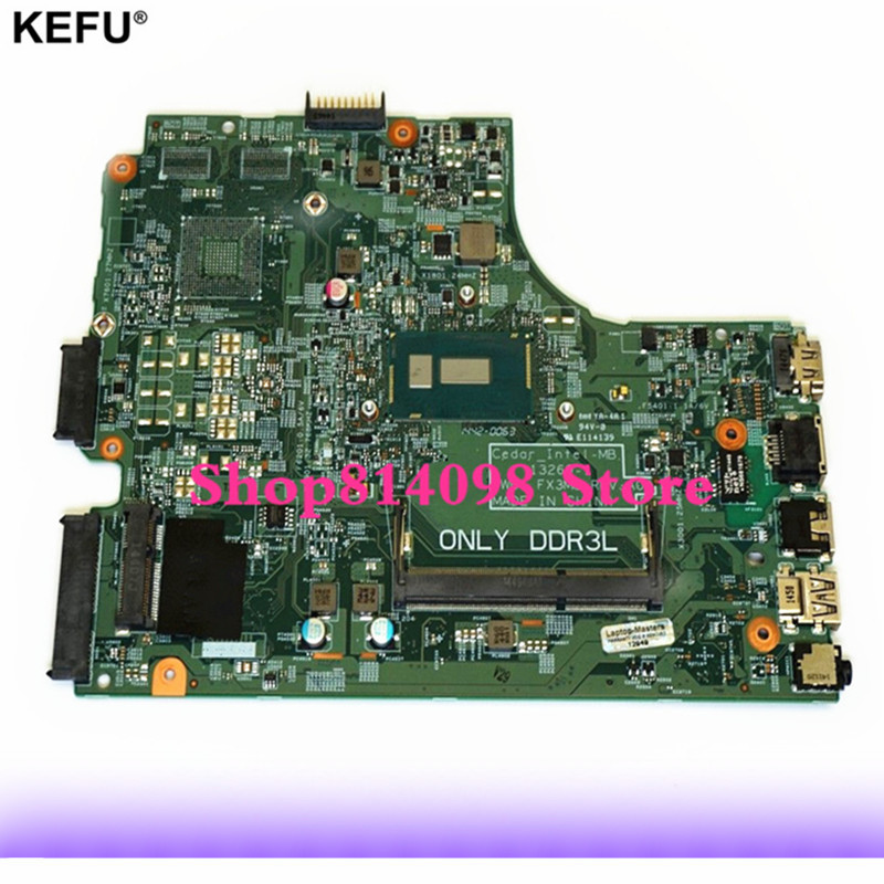 KEFU CN-0P34KX FIT FOR Dell Inspiron 15 3442 3443 3542 3543 5748 5749 Laptop Motherboard 13269-1 FX3MC REV:A00 3558U mainboard dell inspiron 3542 4019