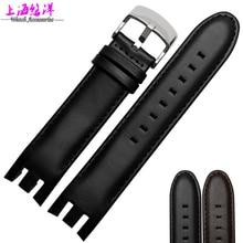 Noir Bracelet De Montre de haute qualité en cuir bande 21mm étanche bracelet en cuir pour YRS403 418 406G 007