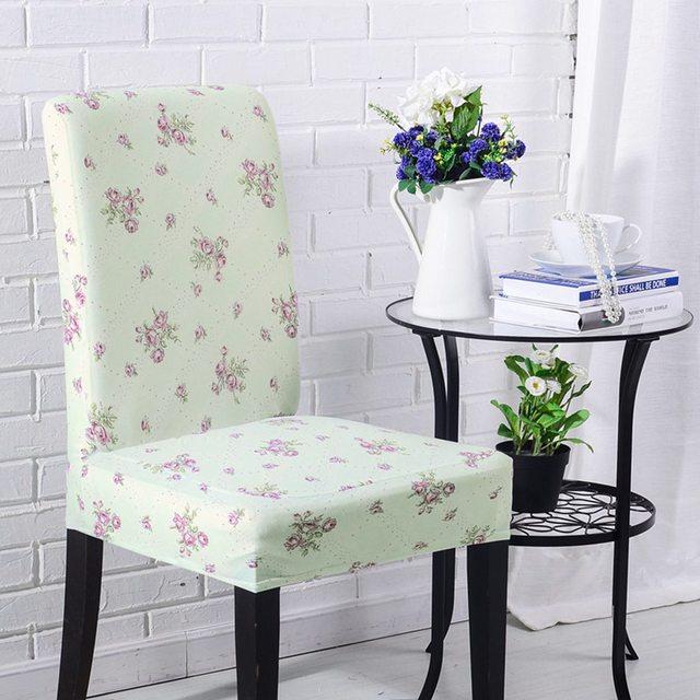 Lieblich AGTYSNZ Günstige Universal Hellgrün Esszimmer Stuhl Stuhlabdeckung Hussen  Lila Blumen Drucken Stuhlhussen Für Hochzeit